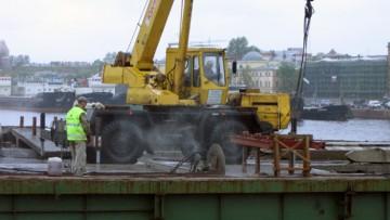 Мост Лейтенанта Шмидта, разборка, демонтаж