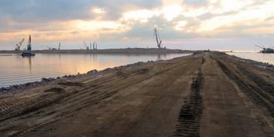 Васильевский остров, намыв, Финский залив, Морской пассажирский порт, терминал