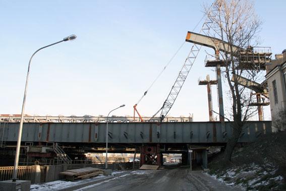 Американский мост, строительство, реконструкция