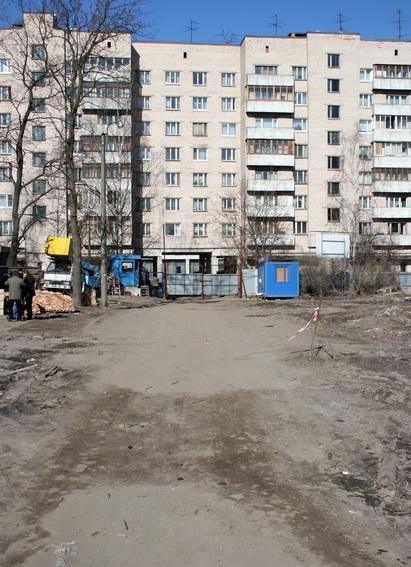 Охта-модерн, строительная площадка, Абросимова улица