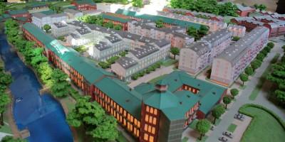 Сестрорецк, Инструментальный завод, макет жилого комплекса Петровский арсенал