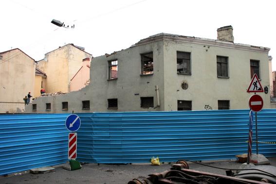 Коломенская улица, 45, Волоколамский переулок, снос, демонтаж ветеринарной станции, лечебницы