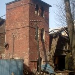 Коломяги, Главная улица, 29, здание сельскохозяйственной фермы, водонапорная башня, до пожара