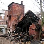 Коломяги, Главная улица, 29, здание сельскохозяйственной фермы, после пожара