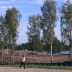 Училище в Рыбацком после сноса