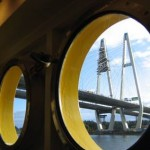 Большой Обуховский мост, вантовый через Неву