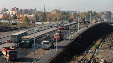 Путепровод Нева на Мурманском шоссе, Народной улице, реконструкция