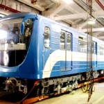 Новый вагон петербургского метро, метрополитена Пришелец