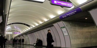 Станция метро Волковская, средний зал