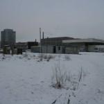 Строительная площадка, забор, сквер у метро Ломоносовская, Макромир