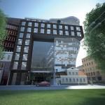 Проект бизнес-центра на Петроградской набережной, 24, домик Нобеля