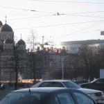 Иоанновский монастырь, река Карповка, бизнес-центр Сенатор
