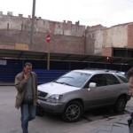 Улица Марата, строительство торгового центра на месте Невских бань