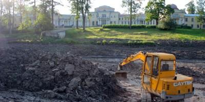 Андрианово, ремонт пруда в усадьбе Марьино
