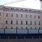 Реконструкция Главного штаба, трещина