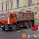Набережная Фонтанки, 50, разрушение арки, грузовик, самосвал