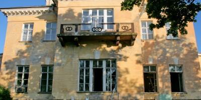 Усадьба Строгановых Марьино, задний фасад