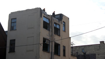 Ковенский переулок, 5, гараж Крюммеля, снос