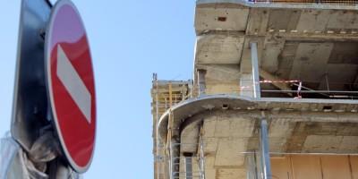 Торговый центр на улице Марата, обрезка бетонных перекрытий