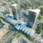 Многофункциональный комплекс Icebridge на улице Коллантай у метро Проспект Большевиков