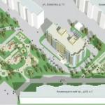 Комендантский проспект, 40, проект застройки сквера, строительство жилого дома