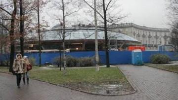 Наземный вестибюль станции метро Горьковская, летающая тарелка