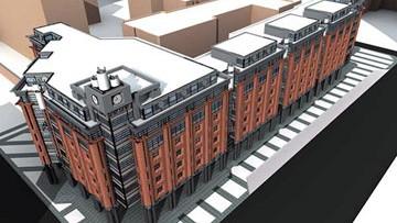 Станция метро Обводный канал, наземный вестибюль, проект