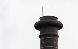 Невская мануфактура на Синопской набережной, дымовая труба Любовь