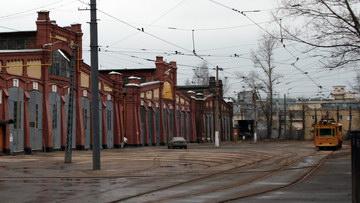 Трамвайный парк № 2 на Среднем проспекте Васильевского острова