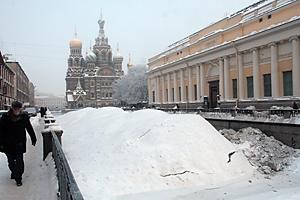 Канал Грибоедова, сброшенный снег