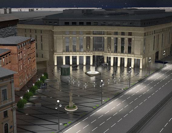 Пешеходная зона у торгового центра Галерея, Galleria