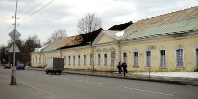 Нижние конюшни в Пушкине, обвалилась кровля, обрушилась крыша
