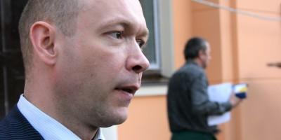 Вячеслав Семененко и рабочий