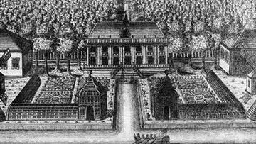 Вид дворца в Екатерингофе, гравюра Зубова 1716 года