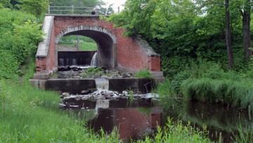 Баболовский парк, река Кузьминка, плотина, мост