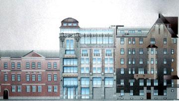 Набережная реки Фонтанки, 161, проект административного здания