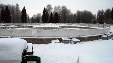 Строительство фонтана в Приморском парке Победы