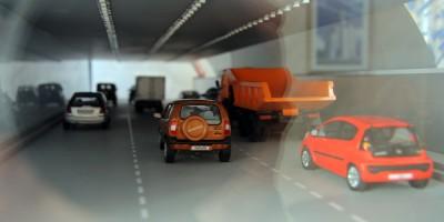 Орловский тоннель, машины