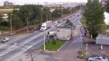 Пост ГИБДД на Приморском шоссе
