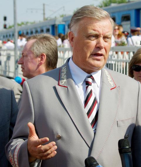 Владимир Якунин, президент ОАО «Российские железные дороги»