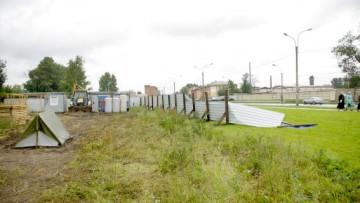Строительство заправочной станции на месте бывшего Митрофаниевского кладбища