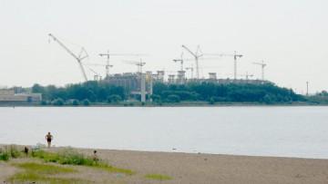 Строящийся стадион на Крестовском острове