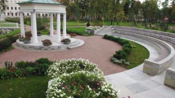 Сад усадьбы Гавриила Державина на набережной Фонтанки, 118