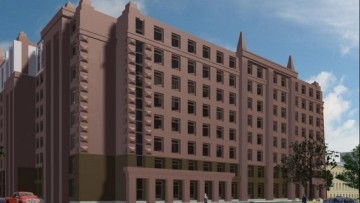 Новая гостиница на улице Академика Лебедева. Проект