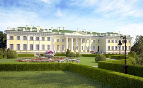 Проект реконструкции Каменноостровского дворца, набережная Малой Невки, 1
