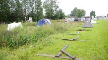 Место стройки АЗС на бывшем Митрофаньевском кладбище