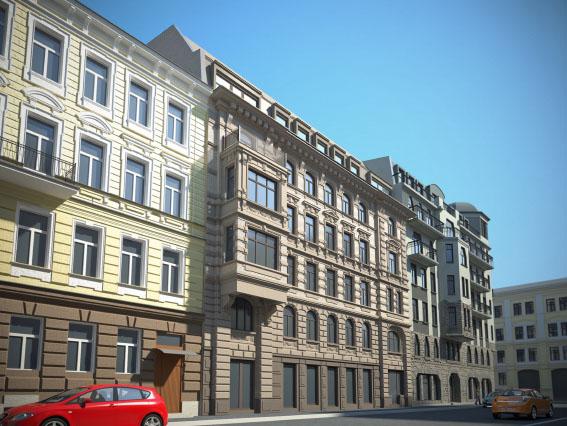 Проект жилого дома, Стремянная улица, 15