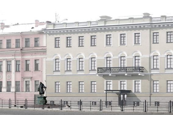 Памятник Трезини в Петербурге, проект