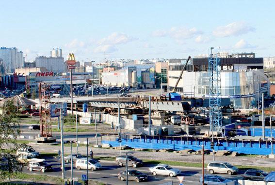 Строительство эстакады, соединяющей Приморское шоссе и Приморский проспект
