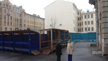 Место строительства церкви Ксении Блаженной на Лахтинской улице